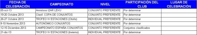 Competiciones 2013-2014