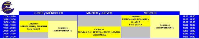 Horarios curso 2013-2014